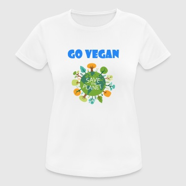 Save The Planet Go Vegan Save the Planet - Women's Breathable T-Shirt