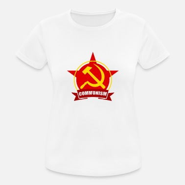 Estrella Army COMUNISMO Red Army Star Banner Badge - Camiseta mujer transpirable