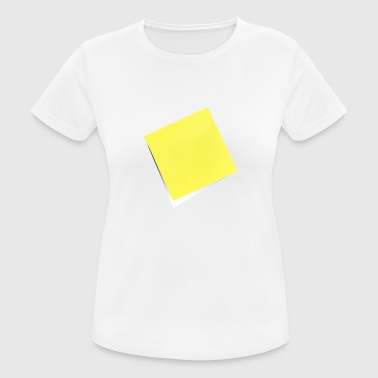 yellow sticky note, sticky note, sticky note - Women's Breathable T-Shirt