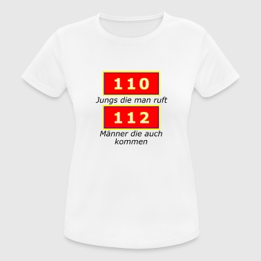 110 112 lifesaver fire department police gift - Women's Breathable T-Shirt