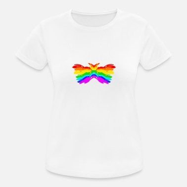 Rainbow Butterfly Rainbow butterfly - Women's Breathable T-Shirt