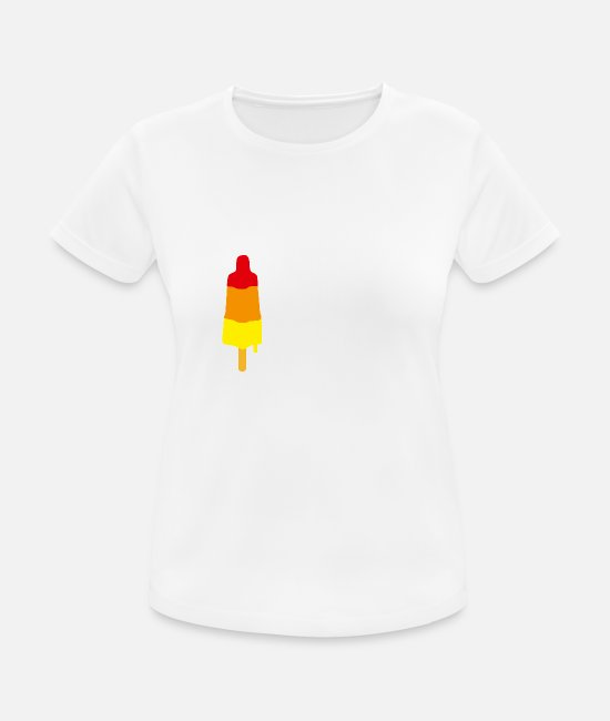 Lollipop T-Shirts - I licked it so it's mine licking popsicle ice - Women's Sport T-Shirt white