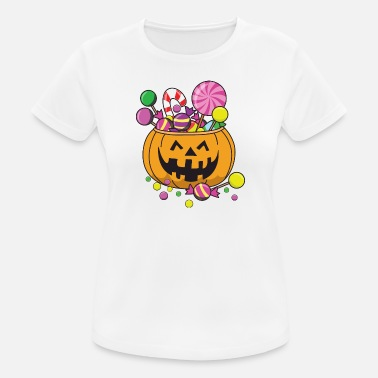 Snoep Monster Halloween Pumpkin Monster Zombie horror snoep - vrouwen T-shirt ademend