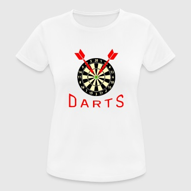Bullseye Darts Darts Dart Bullseye Dartboard and Arrows - Women's Breathable T-Shirt