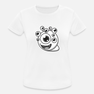 Dopogen Monster cartoon ogen cadeau halloween grappig - Vrouwen sport T-shirt