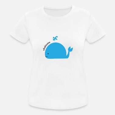 Wale Cartoon whale - Women's Breathable T-Shirt