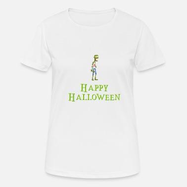53a06196 Happy Halloween - Zombie uten arm - Undead - Witch - Sport T-skjorte for