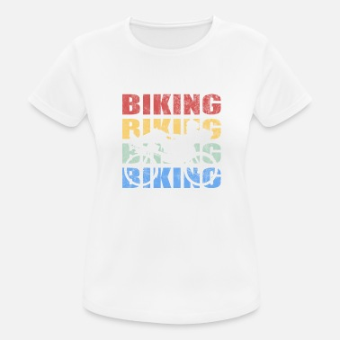 Recumbent Retro vintage style recumbent recumbent bicycle - Women's Breathable T-Shirt