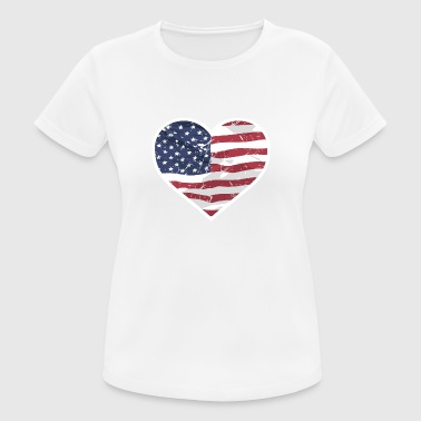 USA Love - Frauen T-Shirt atmungsaktiv