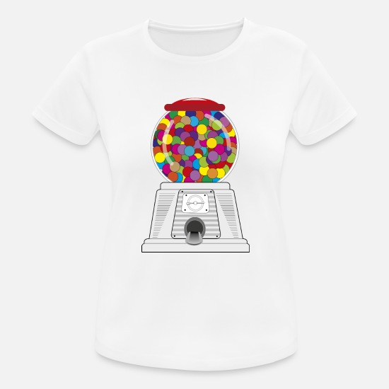 Speech Balloon T-Shirts - Bubble gum machine - Women's Sport T-Shirt white