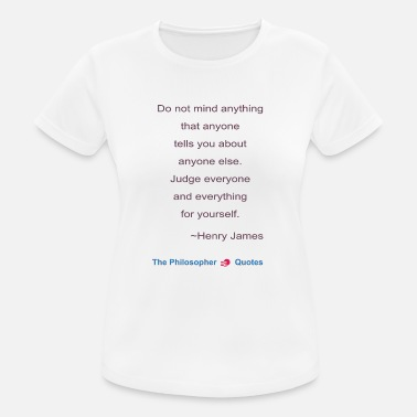 Philosopher Henry James Judging Philosopher b - Women's Breathable T-Shirt