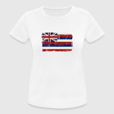 Hawaii Flag  - Vintage Look - Frauen T-Shirt atmungsaktiv