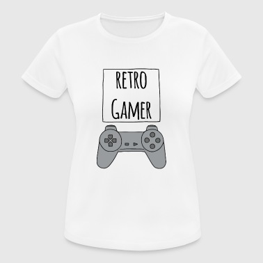 Retro Gamer PS - T-shirt respirant Femme