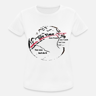 Life Extending Globe - Life Time - the goal extended game - Women's Breathable T-Shirt