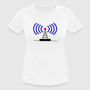 Tour Radio ondes tour radio Radio Communications - T-shirt respirant Femme
