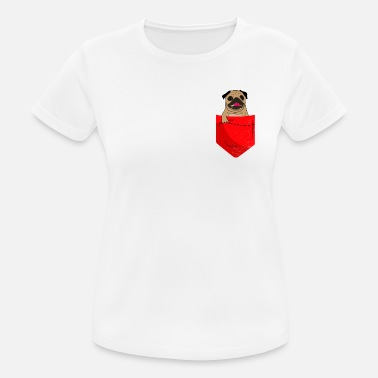 Pocket Pug in the breast pocket - Women's Sport T-Shirt