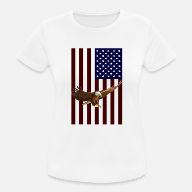 American Eagle American Flag with American Eagle - Women's Sport T-Shirt