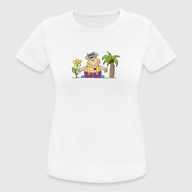 funny hippo with sunflower Hippo hippo - Women's Breathable T-Shirt
