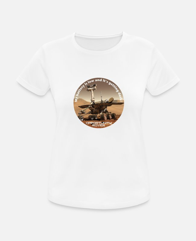 Space T-shirts - Opportunity rover - Vrouwen sport T-shirt wit