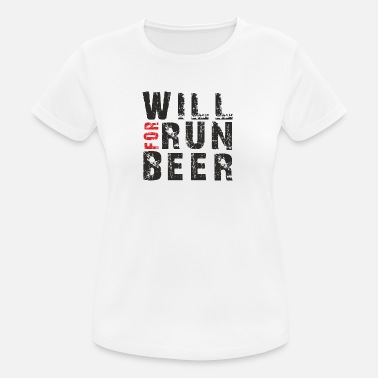 Beer Running Will Run For Beer - Women's Breathable T-Shirt