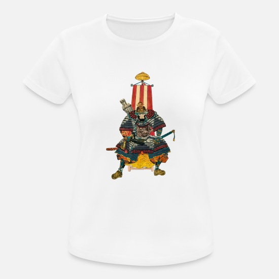 Tattoo T-Shirts - Samurai General 2 - Frauen Sport T-Shirt Weiß