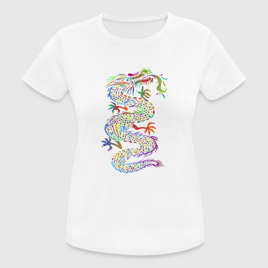 Colorful Chinese fire. Dragon. Gift idea - Women's Breathable T-Shirt