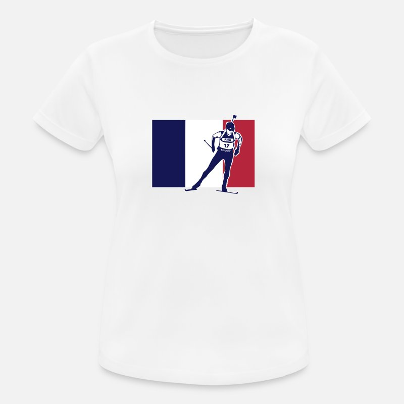 Biathlon T-Shirts - Biathlon - cross country skiing - skiing - ski - Women's Sport T-Shirt white