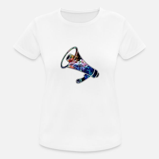 Megaphone T-Shirts - The Mega Phone of the party - Women's Sport T-Shirt white