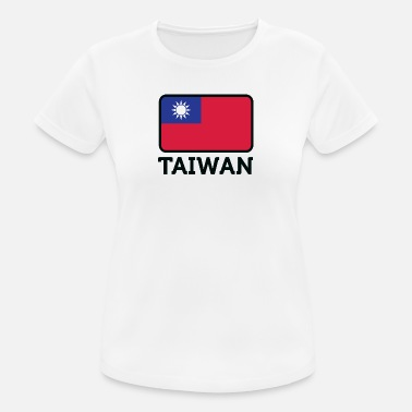 Taipeh National Flag Of Taiwan - Dame T-shirt svedtransporterende