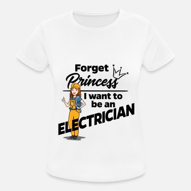 Female Electrician instead of princess - Women's Sport T-Shirt