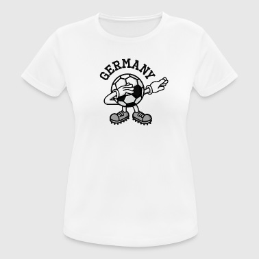 Germany dab dabbing soccer football - vrouwen T-shirt ademend