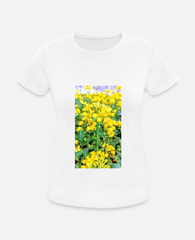 Nature T-Shirts - Blooming mustard - Women's Sport T-Shirt white