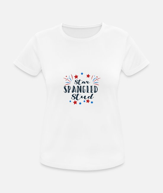 Girlfriend T-Shirts - Star Spangled Stud Gift - Women's Sport T-Shirt white