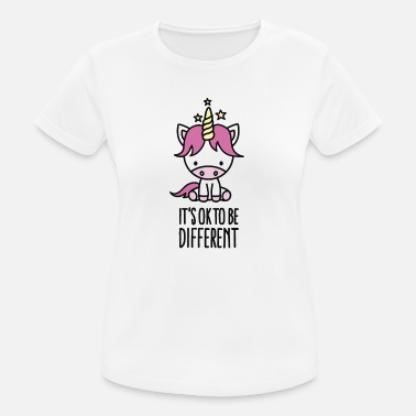 Lesbienne It's ok to be different - unicorn - T-shirt respirant Femme