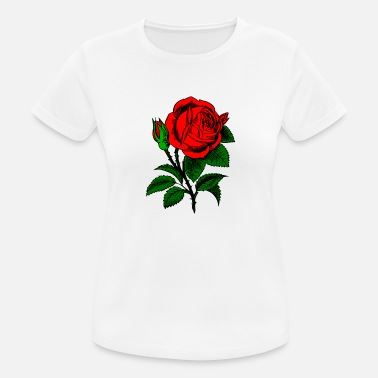 Røde Rose rød Rose - Sports T-shirt dame