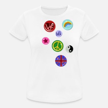 Fake Kids Buttons Buttons Pins Buttons Fake - Women's Breathable T-Shirt
