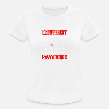 Mass BE DIFFERENT - STAY UNIQUE - RED FLY - Women's Sport T-Shirt