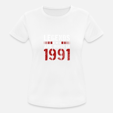 1991 LEGENDS ARE BORN IN 1991 BIRTHDAY CHRISTMAS SHIRT - Frauen T-Shirt atmungsaktiv