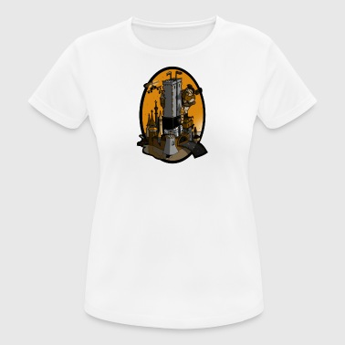 Apelike Queen Kong Castle sunset - Women's Breathable T-Shirt