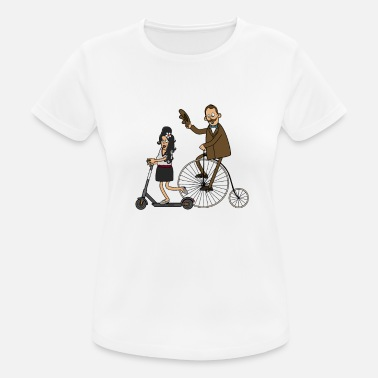 Scooters Meet Cyclists and e-scooters - light surface - Women's Sport T-Shirt