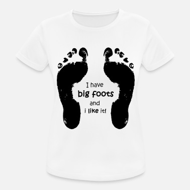 Feet big foot big feet shoe size - Women's Sport T-Shirt