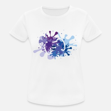 Tshirt Sport Blau Bunt Lila Kleidung & Accessoires