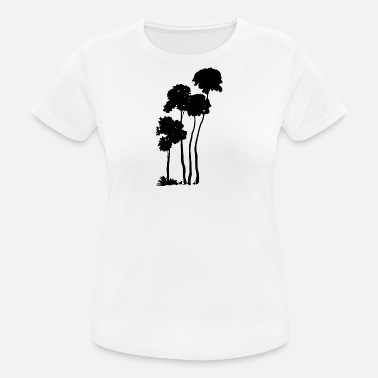 Tree Silhouette Palm trees silhouette - Women's Breathable T-Shirt