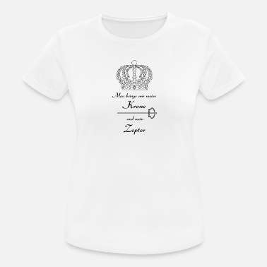 Scepter Kroon en scepter - Vrouwen sport T-shirt