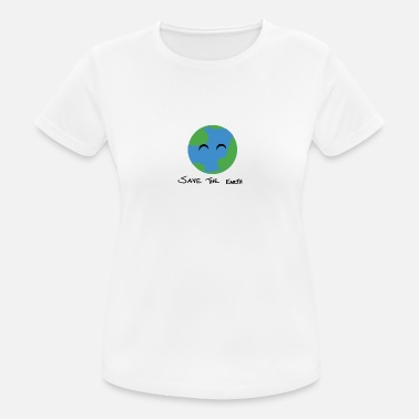 Save The Planet I love you. earth - Sport T-shirt dam