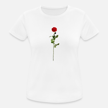 Rote Rose Rote Rose - Frauen Sport T-Shirt