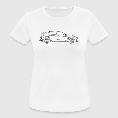 R-type Civic Type R 2017 - Frauen T-Shirt atmungsaktiv