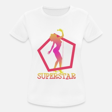 Micro Superstar sings on micro superstar sings on micro - Women's Sport T-Shirt