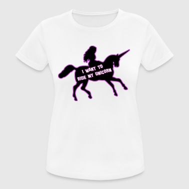 Pony Tops UNICORNRIDE, unicorn, top gift - Women's Breathable T-Shirt
