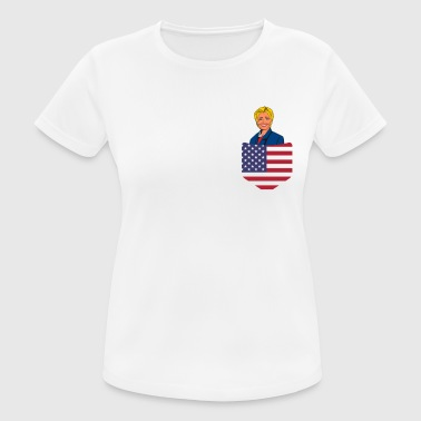 Democratic Party Democratic Clinton in a Stars and Stripes Pocket - Women's Breathable T-Shirt